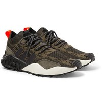 Adidas Atric F 2 Tr Suede Trimmed Primeknit Sneakers Brown