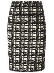 Eggs Pencil Tweed Skirt Black