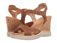 Born Puno Brown Suede Women's Wedge Shoes