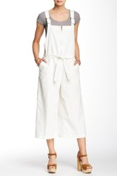 Free People Wide Leg Canvas Jumpsuit White