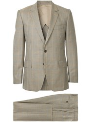 Gieves And Hawkes Two Piece Formal Suit Brown