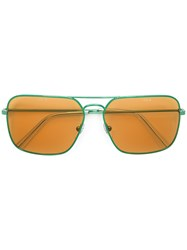 Gosha Rubchinskiy Retrospective Future Sunglasses Green