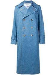 Junya Watanabe Double Breasted Coat Blue