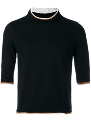 Telfar Mock Neck Top Black