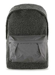 Topman Grey Charcoal Faux Shearling Backpack
