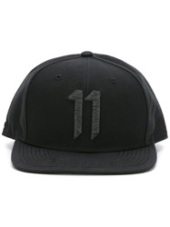 11 By Boris Bidjan Saberi Embroidered Logo Baseball Cap Black