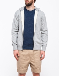 Reigning Champ Core Full Zip Hoodie Heather Grey