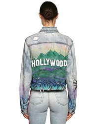 a4bb2c600 Airbrush Hollywood Cotton Denim Jacket Denim Multi
