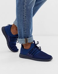 New Look Navy Lace Up Runner Trainers