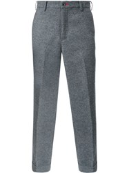 Loveless Tailored Cropped Trousers Grey