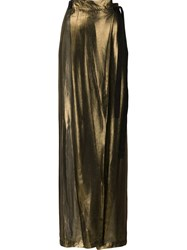Ann Demeulemeester Metallic Sheer Palazzo Trousers