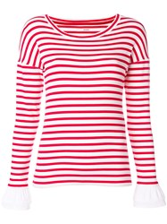 Marc Cain Striped Jumper Red