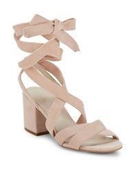 Kenneth Cole Victoria Lace Up Block Heel Sandals Rose