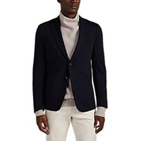 Isaia Brushed Jersey Two Button Sportcoat Navy