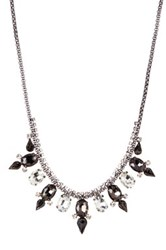 Stephan And Co Crystal Stone Statement Necklace Black