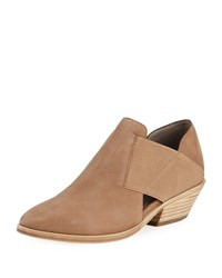 Eileen Fisher Perry Leather Ankle Booties Beige