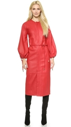 Dsquared Diana Leather Coatdress Red