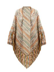 Missoni Exaggerated Fringe Scarf Multi