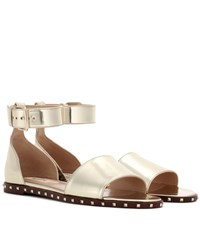 Valentino Garavani Soul Rockstud Leather Sandals Gold
