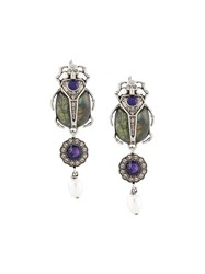 Alexander Mcqueen 'Beatle' Earrings Metallic
