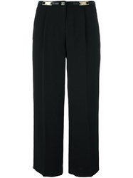 Versace Collection Tailored Cropped Trousers Black
