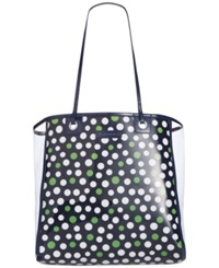 Vera Bradley Clearly Colorful Tote Lucky Spots