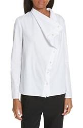Ji Oh Jay Asymmetrical Cotton Poplin Shirt