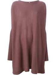 Antonio Marras Loose Fit Sweater Dress Pink And Purple