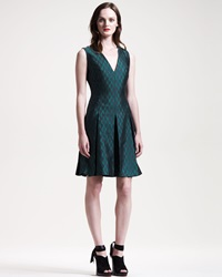 Jonathan Saunders Garner Box Pleat Jacquard Dress 38