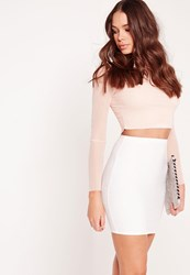 Missguided Bodycon Bandage Mini Skirt White White