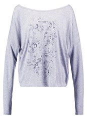 Deha Long Sleeved Top Grey Melange Mottled Grey