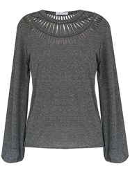 Spacenk Nk Panelled Top Grey