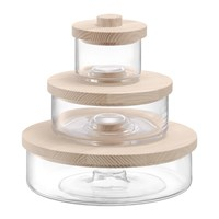 Lsa International Connect Container Trio Clear Ash