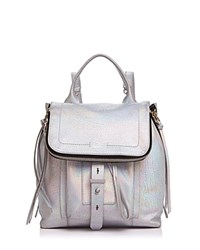 Botkier Warren Metallic Leather Backpack Holographic Silver Silver