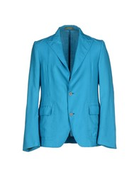 Piombo Suits And Jackets Blazers Men Turquoise