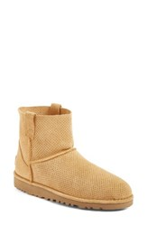Uggr Women's Ugg Classic Unlined Mini Perf Boot Tawny Suede