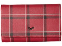 Botkier Soho Chain Wallet Plaid Chili Wallet Handbags Red