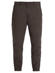 C.P. Company Tapered Leg Stretch Cotton Blend Trousers Black
