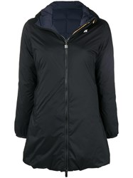 K Way Hooded Raincoat Blue