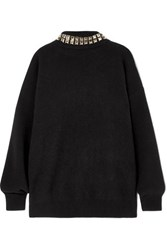 Alexander Wang Studded Wool Blend Turtleneck Sweater Black
