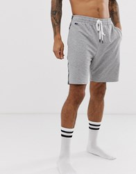 Lacoste Taped Lounge Shorts In Grey