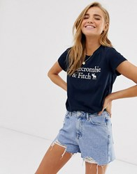 Abercrombie And Fitch Classic Logo T Navy