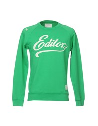 The Editor Sweatshirts Green