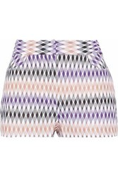 Missoni Crochet Knit Shorts Lavender