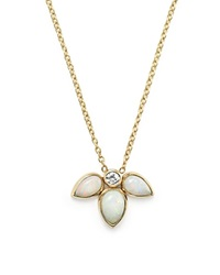 Zoe Chicco 14K Gold Opal And Diamond Starburst Necklace 16