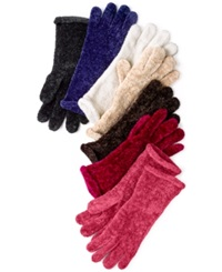 Charter Club Chenille Roll Top Gloves Black