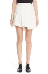 Narciso Rodriguez Women's Pleated Crepe Miniskirt