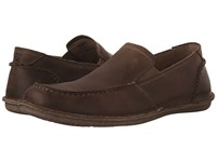 Hush Puppies Asil Roll Flex Taupe Leather Men's Slip On Shoes
