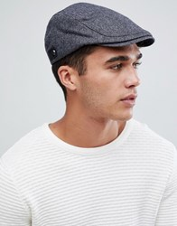 Ted Baker Asam Flat Cap In Herringbone Blue