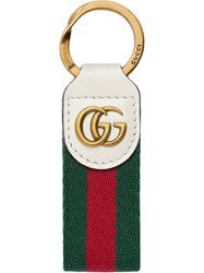 Gucci Key Chain With Double G White
